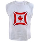 Canadian Biker Cross Men's Sleeveless Tee