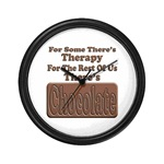 Chocolate Therapy Wall Clock