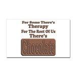 Chocolate Therapy Rectangular Sticker