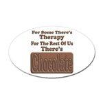 Chocolate Therapy Oval Sticker