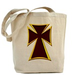 Christian Biker Cross Tote Bag