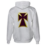Christian Biker Cross Hooded Sweatshirt