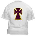 Christian Biker Cross White T-Shirt