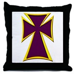 Christian Biker Cross Throw Pillow