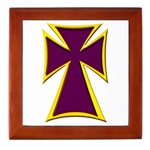 Christian Biker Cross Tile Box