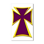Christian Biker Cross Rectangular Sticker