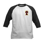 Christian Biker Cross Kids Baseball Jersey
