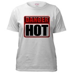DANGER: HOT!  Industrial 3D Metal Style Warning Sign