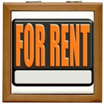 For Rent Sign Tile Box