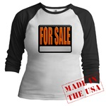For Sale Sign Jr. Raglan
