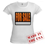 For Sale Sign Jr. Baby Doll T-Shirt