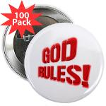 "God Rules! 2.25"" Button (100 pack)"