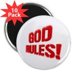 "God Rules! 2.25"" Magnet (10 pack)"