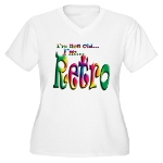 I'm Not Old, I'm Retro Women's Plus Size V-Neck T-