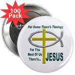 "Jesus Therapy 2.25"" Button (100 pack)"