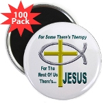 "Jesus Therapy 2.25"" Magnet (100 pack)"