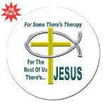 "Jesus Therapy 3"" Lapel Sticker (48 pk)"