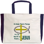 Jesus Therapy Beach Tote