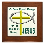Jesus Therapy Framed Tile