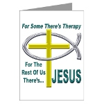 Jesus Therapy Greeting Card