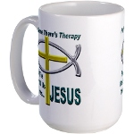 Jesus Therapy Large Coffee Mug