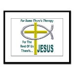 Jesus Therapy Large Framed Print