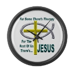 Jesus Therapy Large Wall Clock