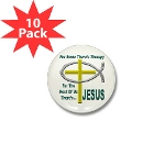 Jesus Therapy Mini Button (10 pack)