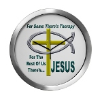 Jesus Therapy Modern Wall Clock