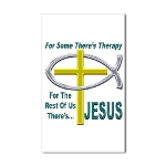 Jesus Therapy Rectangular Sticker