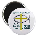 Jesus Therapy Round Magnet