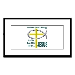 Jesus Therapy Small Framed Print