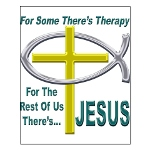 Jesus Therapy Small Poster