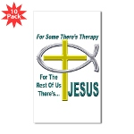 Jesus Therapy Sticker (Rectangle 10 pk)
