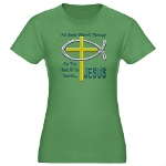 Jesus Therapy Women's Fitted T-Shirt (dark)