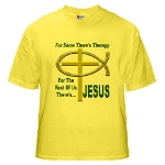 Jesus Therapy Yellow T-Shirt