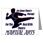 Martial Arts Therapy Greeting Cards (Package of 6)