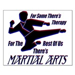 Martial Arts Therapy Small Poster