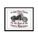 Motorcycle Therapy Framed Panel Print