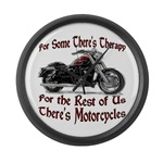 Motorcycle Therapy Giant Clock