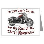 Motorcycle Therapy Greeting Cards (Pk of 20)
