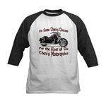 Motorcycle Therapy Kids Baseball Jersey