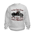 Motorcycle Therapy Kids Sweatshirt
