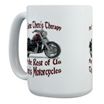 Motorcycle Therapy Large Mug