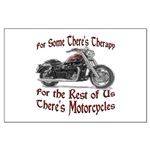 Motorcycle Therapy Large Poster