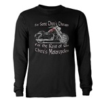 Motorcycle Therapy Long Sleeve Dark T-Shirt