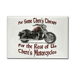 Motorcycle Therapy Rectangle Magnet
