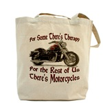 Motorcycle Therapy Tote Bag