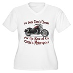 Motorcycle Therapy Women's Plus Size V-Neck T-Shir