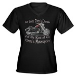 Motorcycle Therapy Women's V-Neck Dark T-Shirt